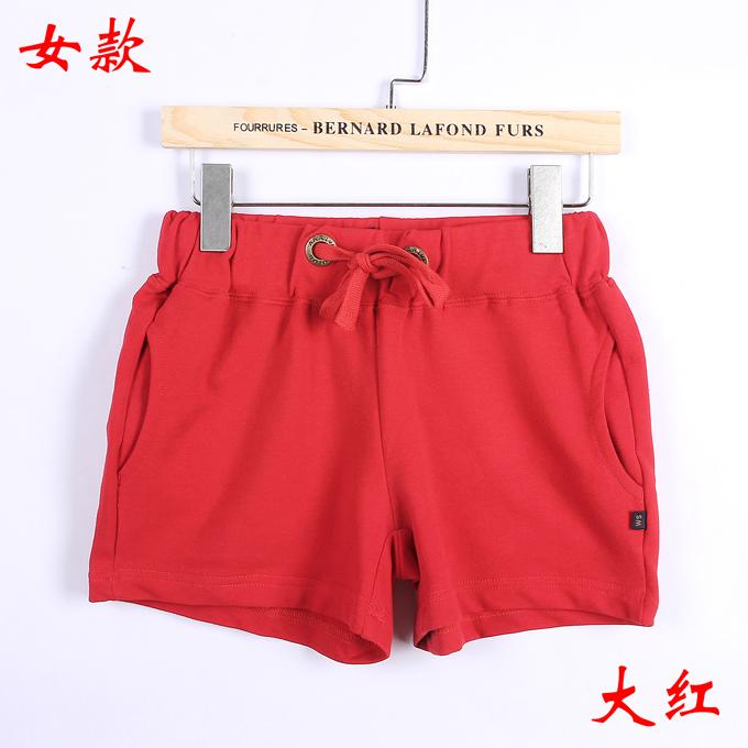 情侣短裤女款--大红