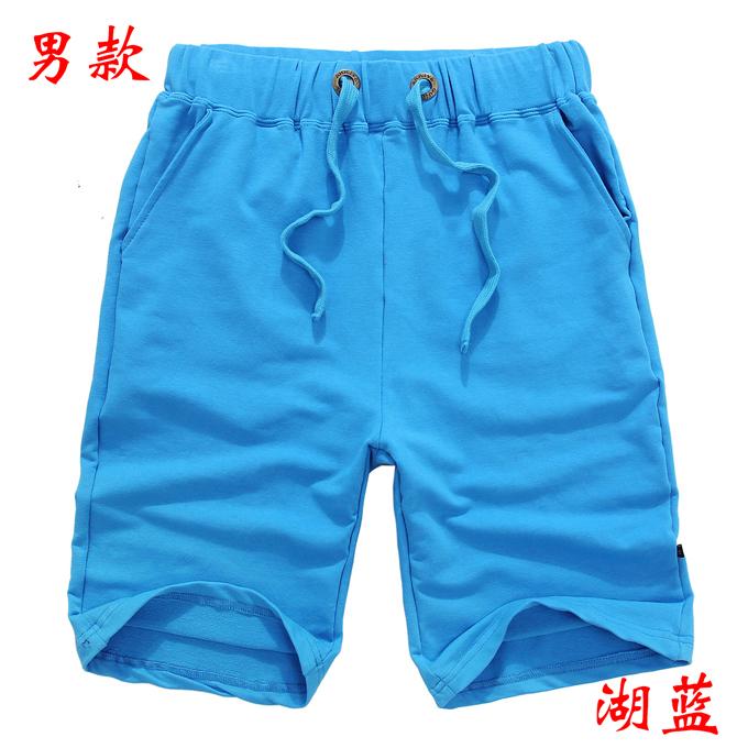 情侣短裤男款--湖蓝