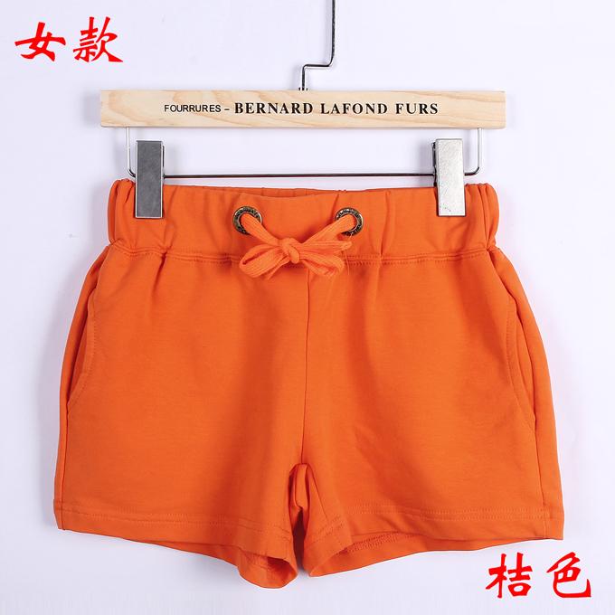 情侣短裤女款--桔色